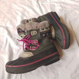 Girls London Fog Tottenham Boots Gray 1
